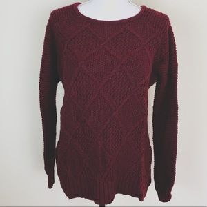 American Eagle Burgundy Oversized Sweater